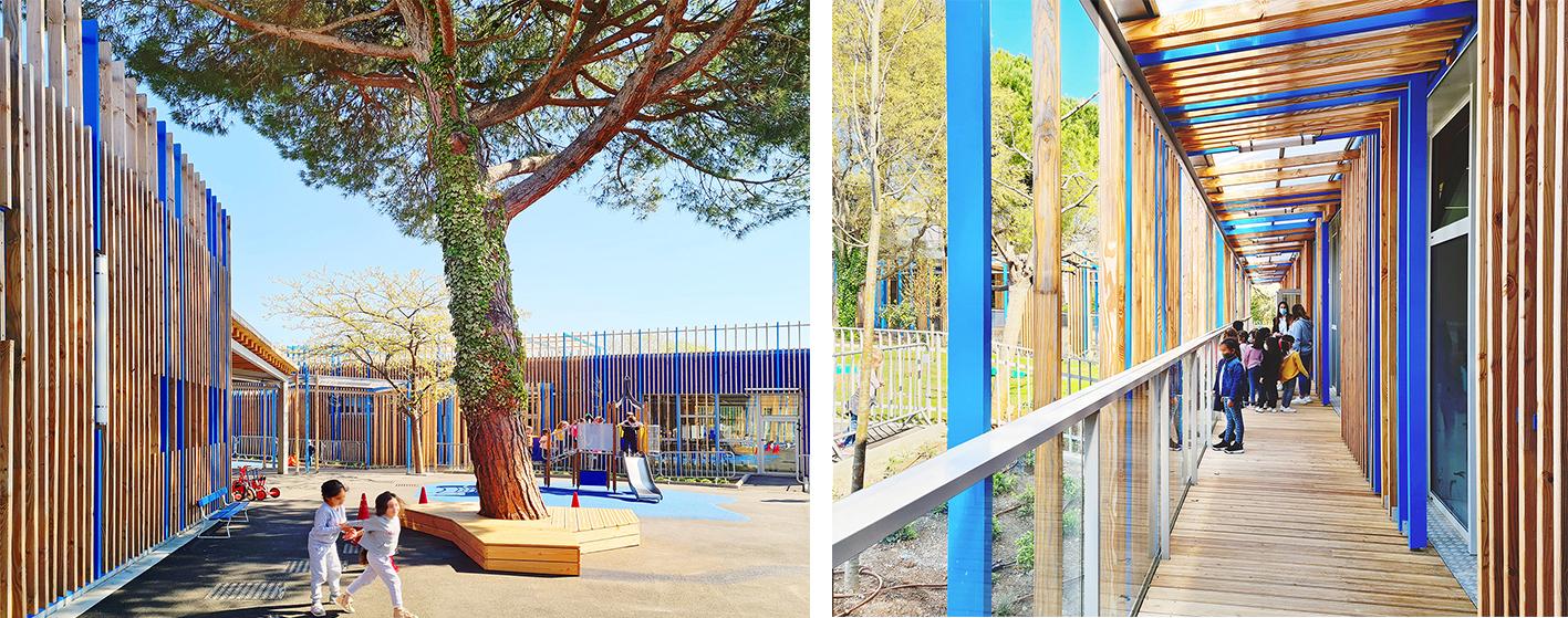 architecte nice 06 paca achitecture batiment groupe scolaire billy goffard antibes jean-les-pins